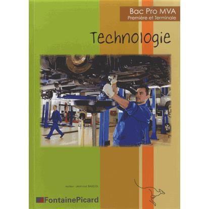 Bac pro mva technologie 1re et tle achat vente livre for Technologie cuisine bac pro
