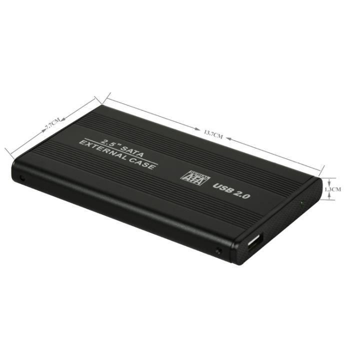 2 5 sata vers usb 2 0 disque dur cas noir sans disque dur prix pas cher cdiscount. Black Bedroom Furniture Sets. Home Design Ideas
