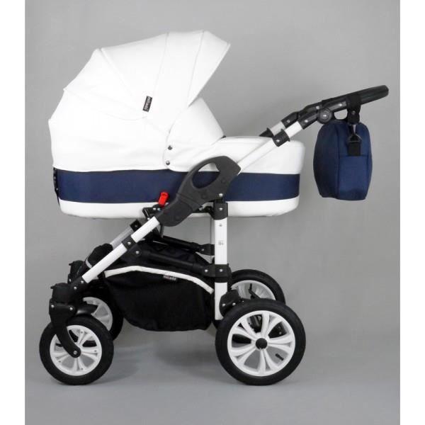 Poussette trio aston blanche et bleu marine avec tous ces accessoires blanc achat vente - Chambre bleu marine et blanche ...