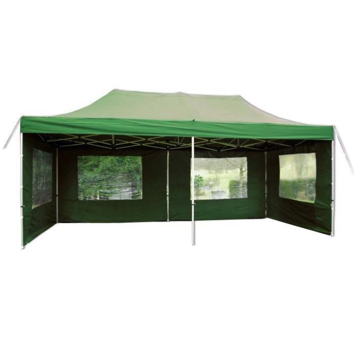 pavillon de jardin vert 3 x 6 m achat vente tonnelle barnum pavillon de jardin vert 3 x. Black Bedroom Furniture Sets. Home Design Ideas