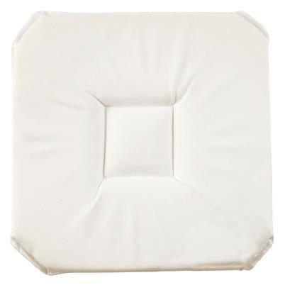 Galette de chaise anti tache uni blanc achat vente - Galette de chaise blanc ...