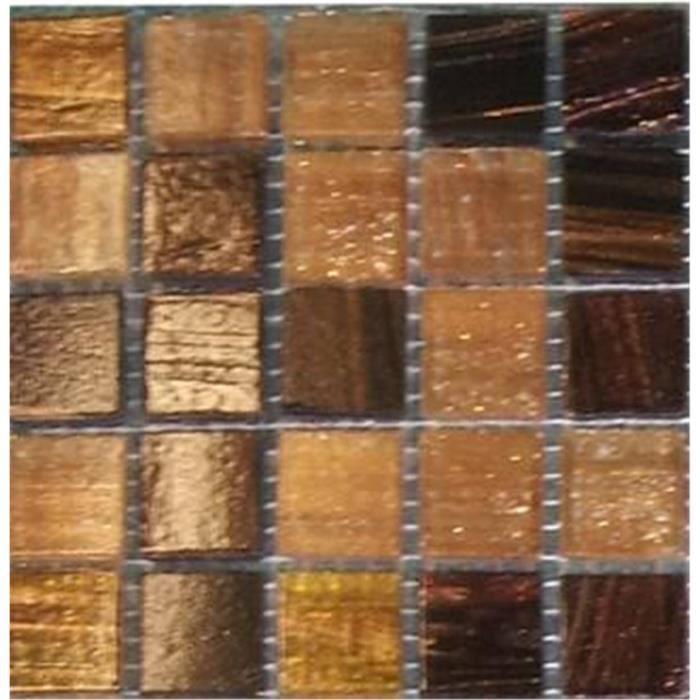 Carrelage mosa que en verre or et marron couleurs yeux for Carrelage en mosaique