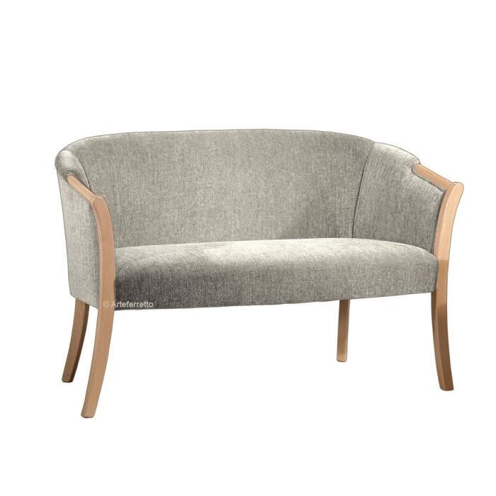 petit canap enveloppant bois et tissu shelly achat. Black Bedroom Furniture Sets. Home Design Ideas