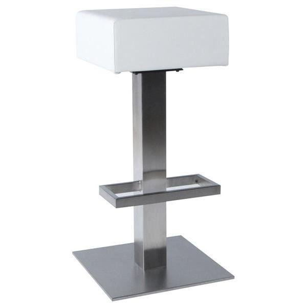 tabouret de bar design blanc achat vente tabouret de bar acier cdiscount
