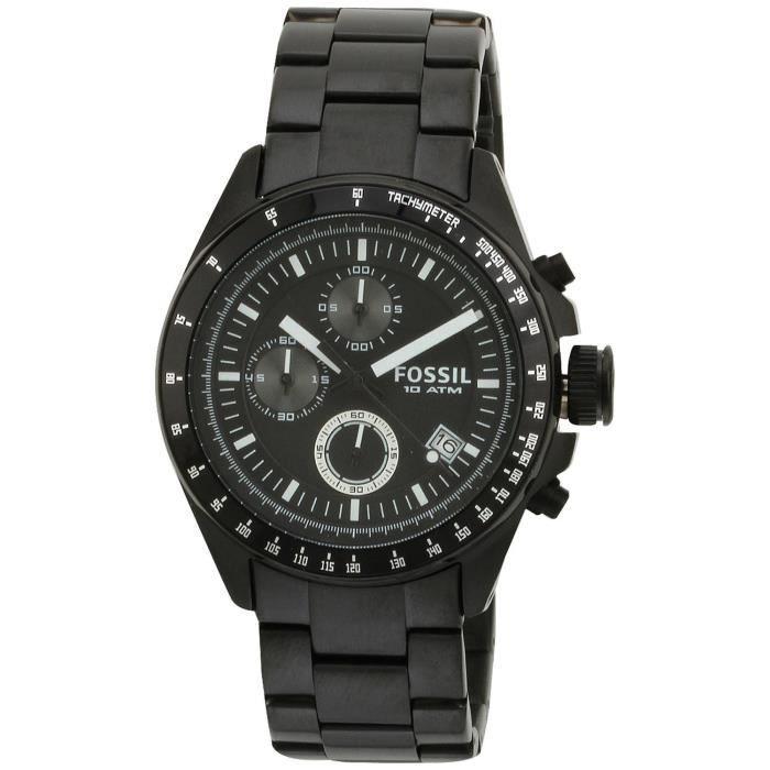 fossil ch2601 montre homme quartz chronographe bracelet acier inoxydable noir. Black Bedroom Furniture Sets. Home Design Ideas
