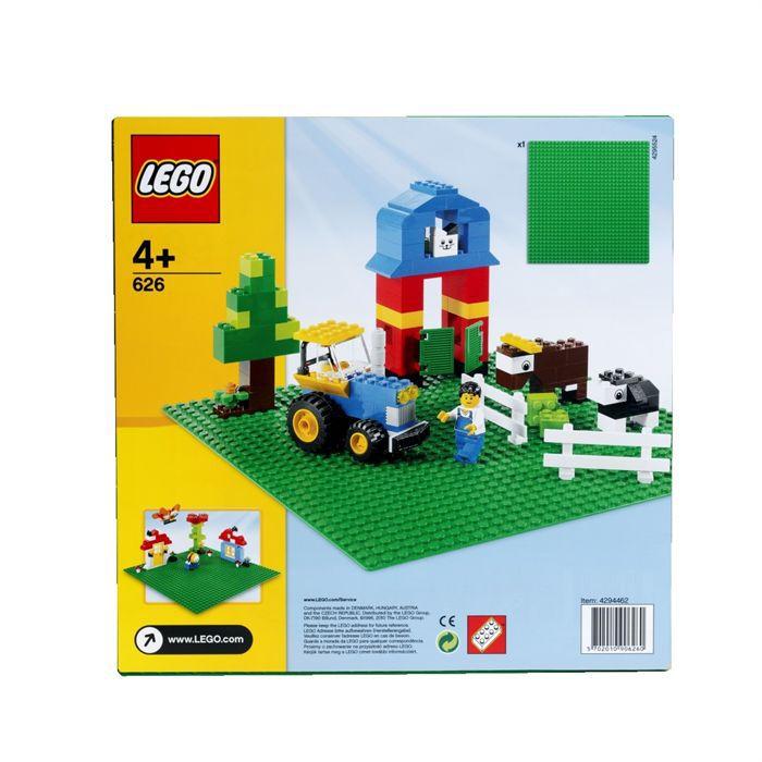 lego briques 626 plaque de base verte achat vente. Black Bedroom Furniture Sets. Home Design Ideas