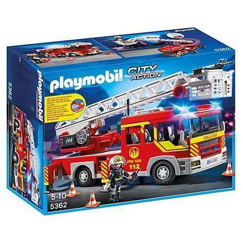 playmobil 5362 camion de pompiers achat vente. Black Bedroom Furniture Sets. Home Design Ideas