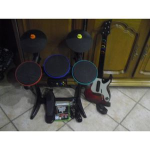 JEUX XBOX 360 pack guitar hero 5 guitar et batterie xbox 360