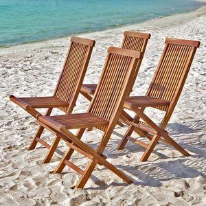 chaise bois exterieur achat vente chaise bois exterieur pas cher cdiscount. Black Bedroom Furniture Sets. Home Design Ideas