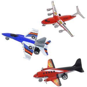 AVIATION Lot Set 3 Avions à rétro-friction Jouet Enfant Pil
