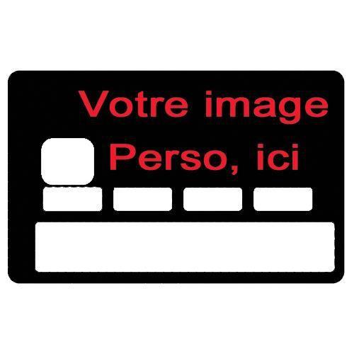 Stickers autocollant pour carte bancaire personnalisable for Stickers pas cher pour porte