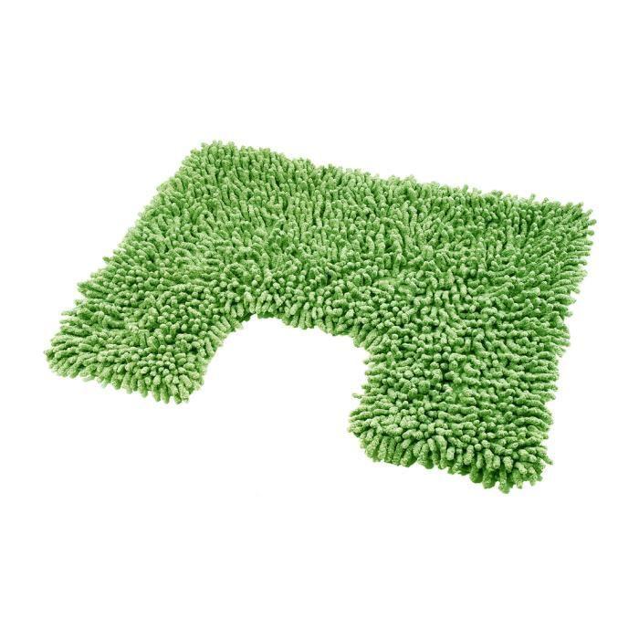 tapis contour wc chenille vert achat vente tapis de bain cadeaux de no l cdiscount. Black Bedroom Furniture Sets. Home Design Ideas