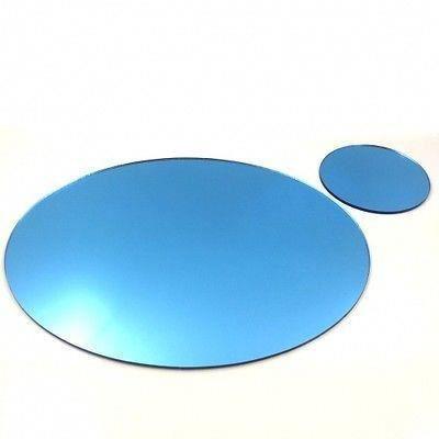 4 bleus napperons en miroir ovale et sous verres achat for Miroir acrylique incassable