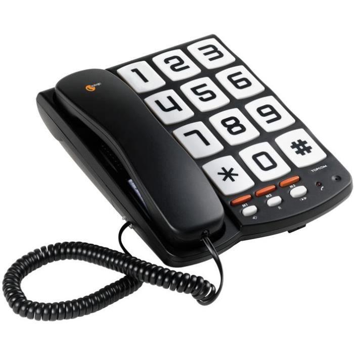 telephonie r telephone fixe grosse touche