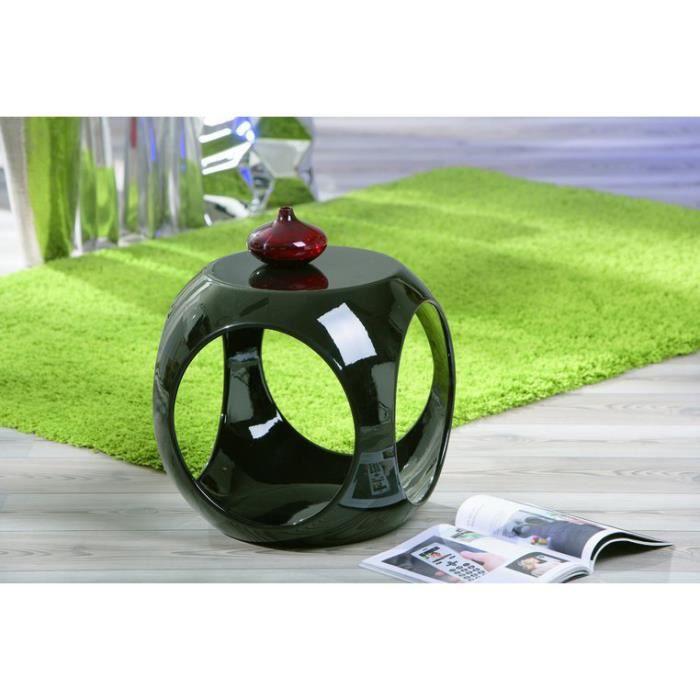 table d 39 appoint carr e design noire nano achat vente. Black Bedroom Furniture Sets. Home Design Ideas