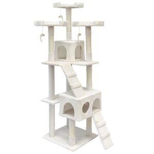 arbre a chat blanc achat vente arbre a chat blanc pas cher soldes cdiscount. Black Bedroom Furniture Sets. Home Design Ideas
