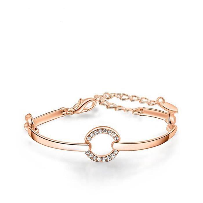 bracelet en or rose pour femme. Black Bedroom Furniture Sets. Home Design Ideas