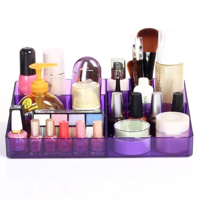 Bo te de rangement cosm tiques violet interdesign achat - Boite rangement cosmetique ...