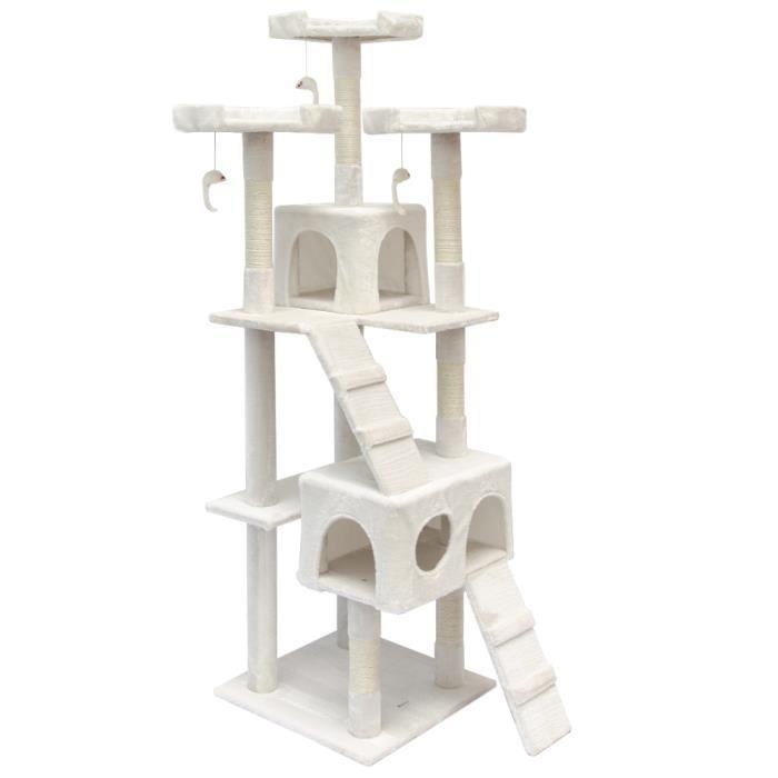 arbre chat griffoir julia grand 170 cm blanc achat vente arbre chat arbre chat. Black Bedroom Furniture Sets. Home Design Ideas