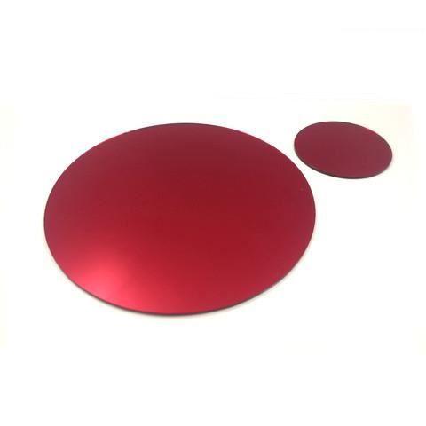 4 rouge miroir circulaire napperons et sous verres achat for Miroir 40x150