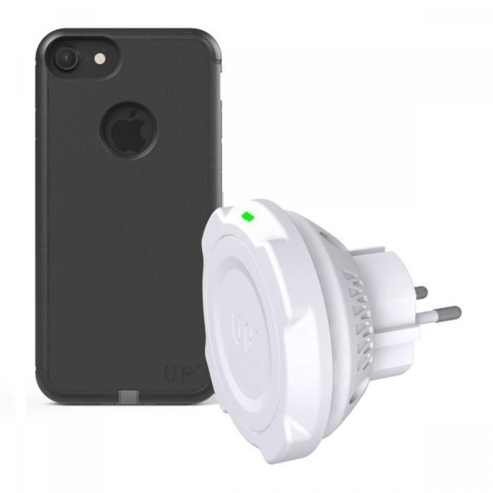 prise secteur chargeur induction sans fil aimant iphone 7 6s 6 noir achat chargeur. Black Bedroom Furniture Sets. Home Design Ideas