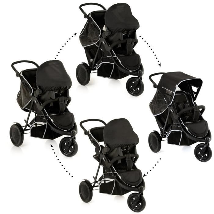 poussette double travel system freerider 3 roue achat. Black Bedroom Furniture Sets. Home Design Ideas