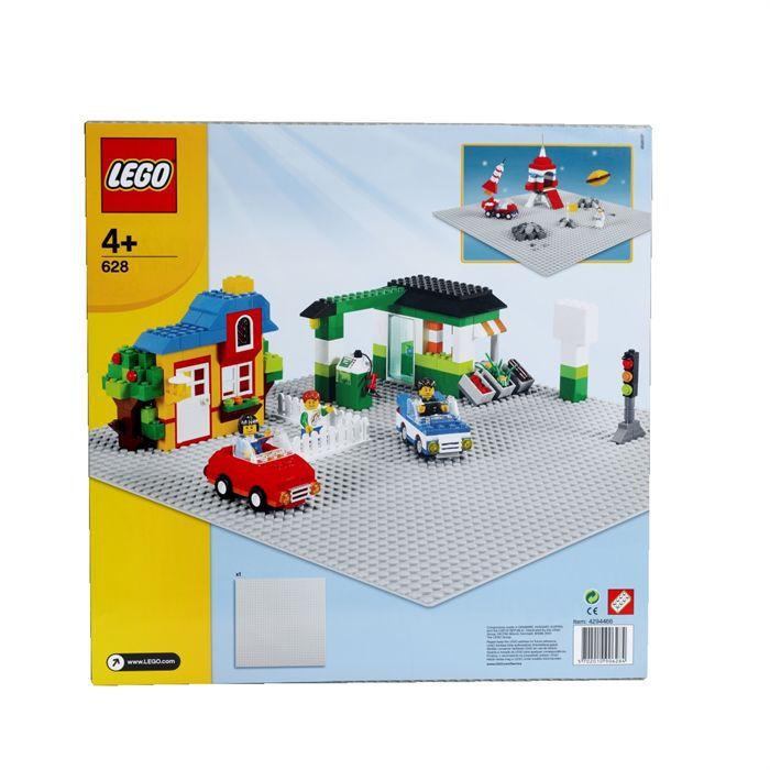 lego briques 628 plaque grise 38 x 38 cm achat vente assemblage construction cdiscount. Black Bedroom Furniture Sets. Home Design Ideas