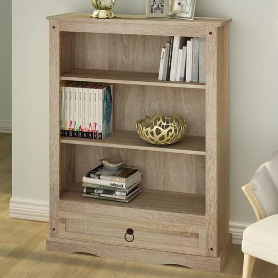 tag re pour livres avec tiroir au style maison de campagne achat vente etag re murale. Black Bedroom Furniture Sets. Home Design Ideas