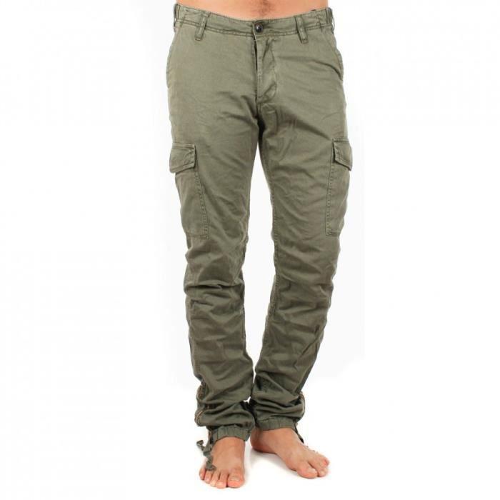 Treillis ajust japan rags baccu vert achat vente pantalon cdiscount - Pantalon treillis japan rags ...