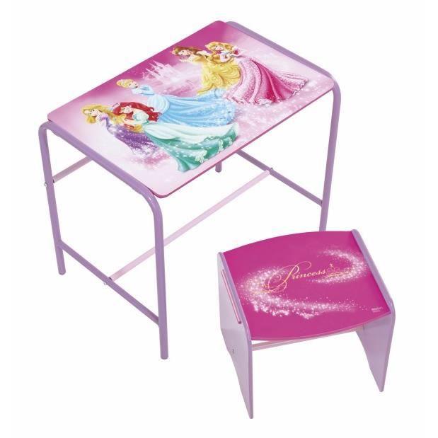 Bureau pupitre table et chaise bois princesses achat for Table chaise bois enfant