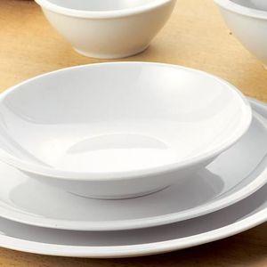 assiettes porcelaine blanche achat vente assiettes porcelaine blanche pas cher cdiscount. Black Bedroom Furniture Sets. Home Design Ideas