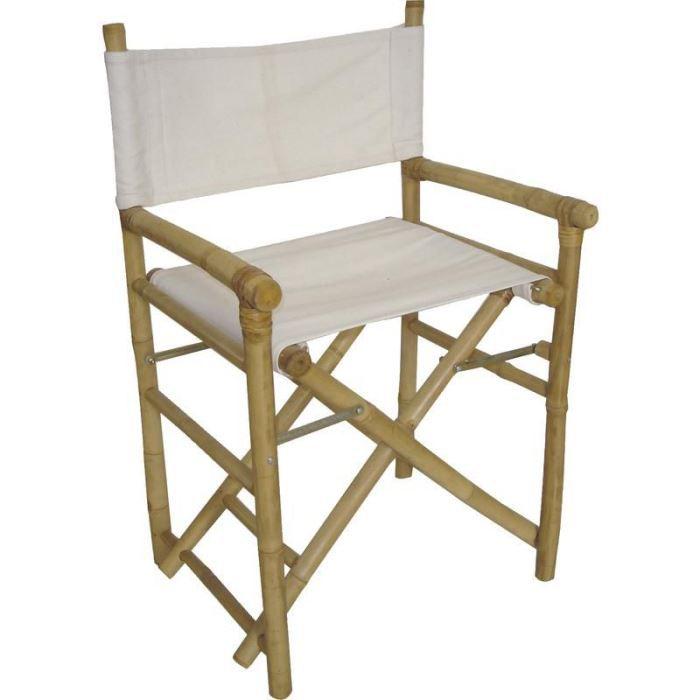 fauteuil metteur en sc ne pliant en bambou et c achat. Black Bedroom Furniture Sets. Home Design Ideas