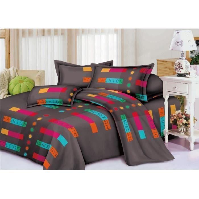 housse de couette 2 places 100 microfibre achat vente. Black Bedroom Furniture Sets. Home Design Ideas