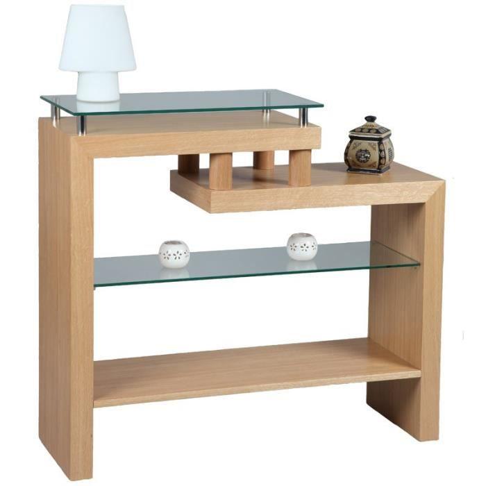 console en bois de ch ne oaked achat vente console. Black Bedroom Furniture Sets. Home Design Ideas