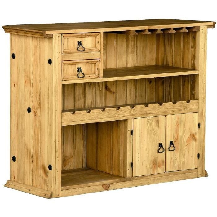 bar style montagnard en pin cir alpage 111 achat vente meuble bar bar style montagnard en. Black Bedroom Furniture Sets. Home Design Ideas