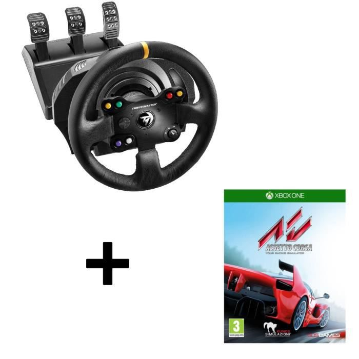 pack thrustmaster volant tx racing wheel leather edition pc xbox one assetto corsa jeu. Black Bedroom Furniture Sets. Home Design Ideas