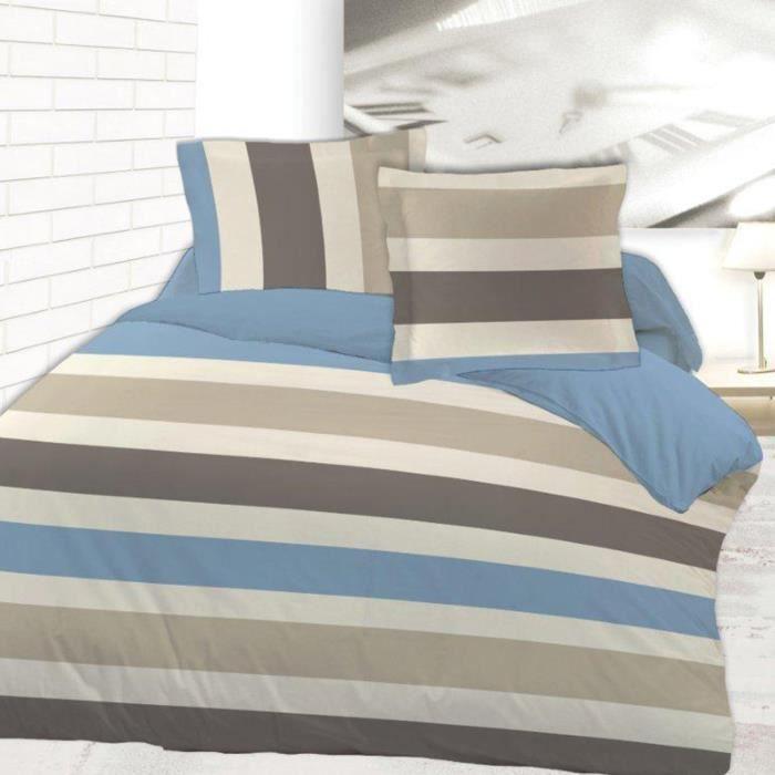 housse de couette alpha 240x220 2 taies flanelle achat vente housse de couette cdiscount. Black Bedroom Furniture Sets. Home Design Ideas