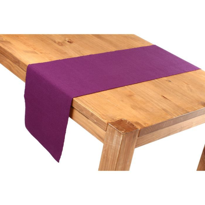 Chemin de table 35x150 prune achat vente chemin de table cdiscount - Chemin de table violet ...