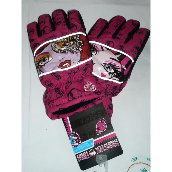 Gants de ski monster high rose achat vente gant mitaine 2009962151629 - Vente de monster high ...