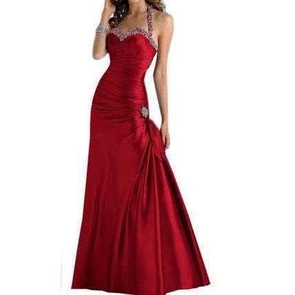 robe de soiree cocktail rouge la mode des robes de france. Black Bedroom Furniture Sets. Home Design Ideas