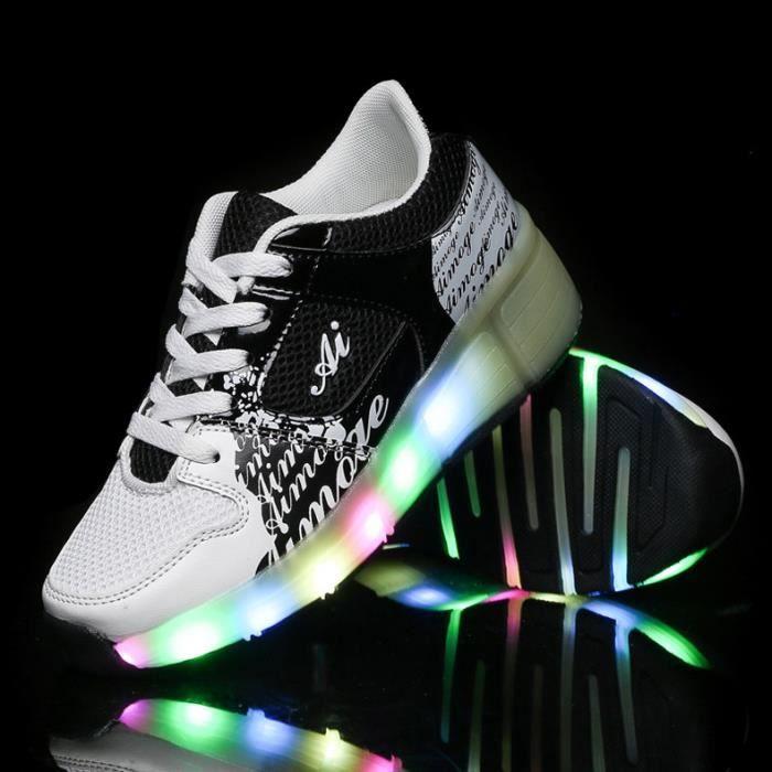 Heelys Enfants Chaussures Roulettes Gar On Automatique Led Lumineux Clignotant Patins
