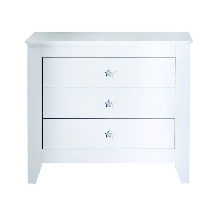 Commode poudre d 39 toiles blanc achat vente commode b b 5413042543629 - Commode bebe cdiscount ...