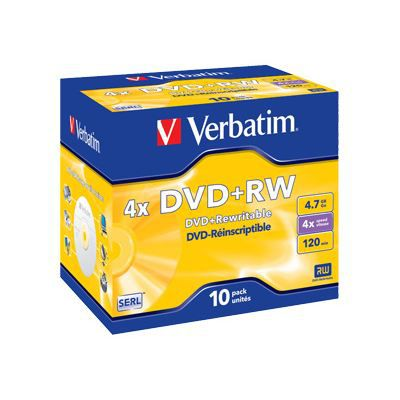 verbatim 10 x dvd rw 4 7 go 120 minutes 4x achat. Black Bedroom Furniture Sets. Home Design Ideas