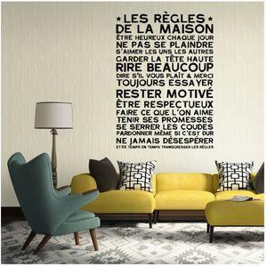 stickers regles de la maison achat vente stickers regles de la maison pas cher les soldes. Black Bedroom Furniture Sets. Home Design Ideas