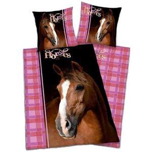 housse de couette cheval achat vente housse de couette cheval pas cher soldes d hiver. Black Bedroom Furniture Sets. Home Design Ideas