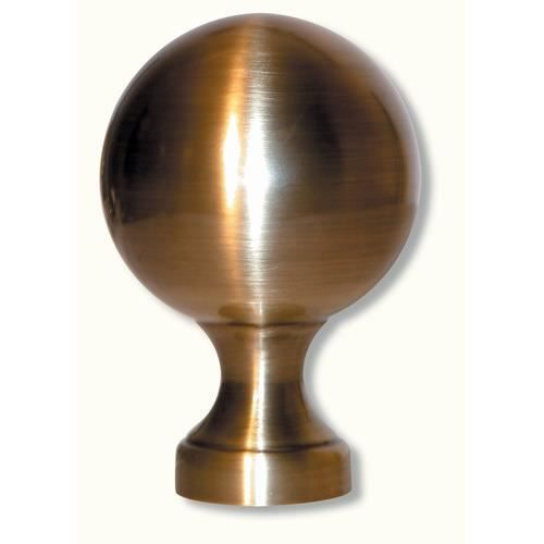 boule pommeau d 39 escalier laiton patin cuir achat vente rampe main courante boule pommeau. Black Bedroom Furniture Sets. Home Design Ideas