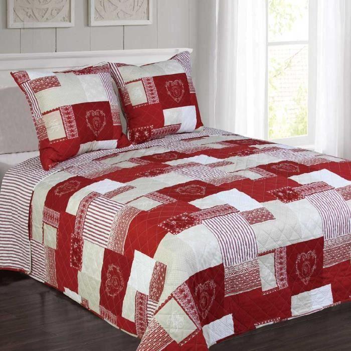 courchevel rouge montagne coeur achat vente jet e de lit boutis cdiscount. Black Bedroom Furniture Sets. Home Design Ideas