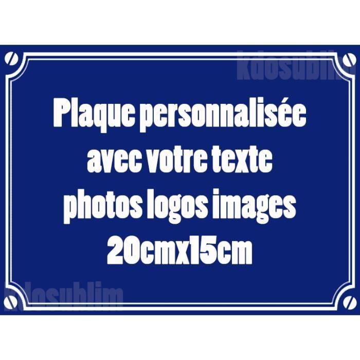 Plaque de rue plaque alu personnalisable achat vente plaque de porte lettre decorative alu - Plaque de porte decorative ...
