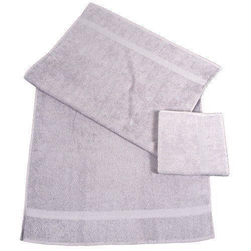 dyckhoff 0900534109 lot de 1 serviette essuie mains de 1 serviette de bain gris pierre 100 x. Black Bedroom Furniture Sets. Home Design Ideas