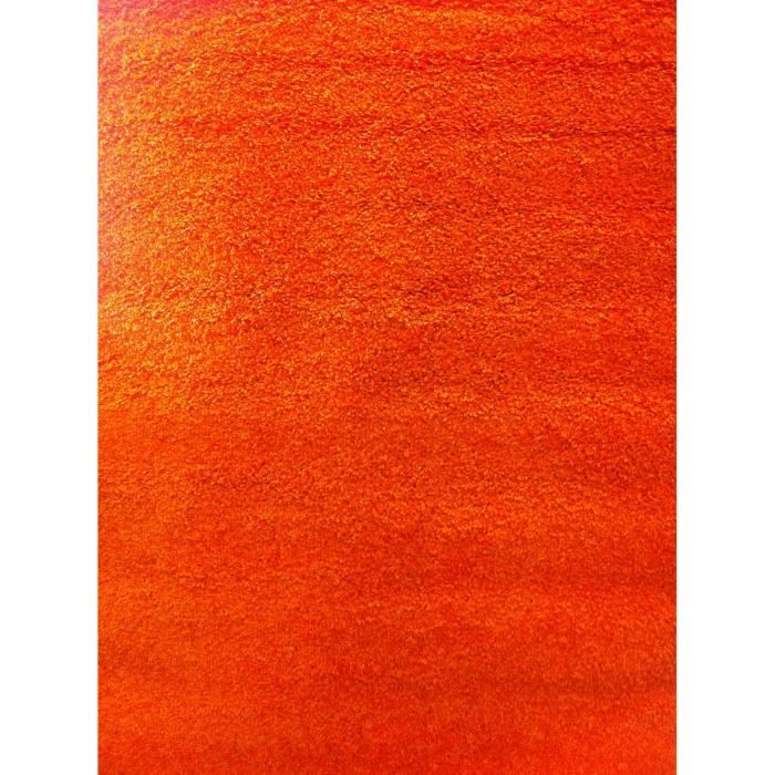 Tapis moderne basic trendy orange 160x230 par achat for Moquette rouge texture